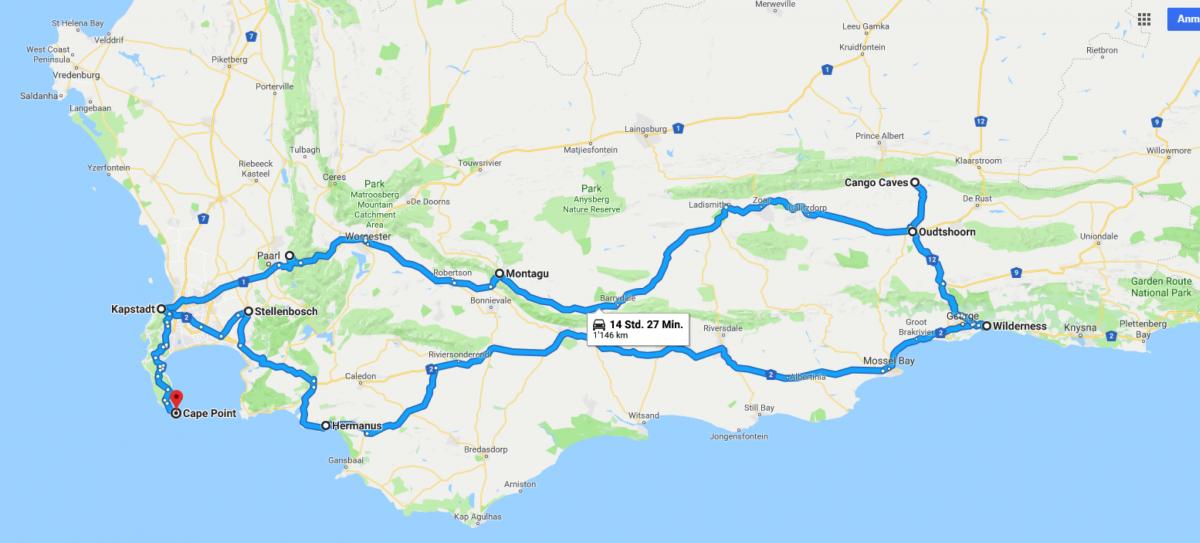 Südafrika Karte Sehenswürdigkeiten.Südafrika Nova Reisen Weingüter Whale Watching